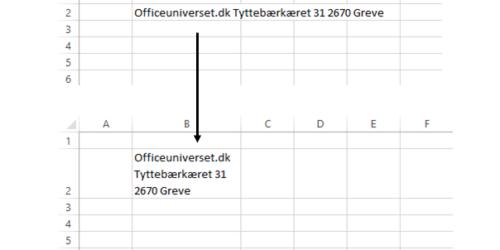 Linjeskift I Excel